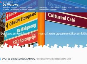 Nieuwe website brede school De Waluwe