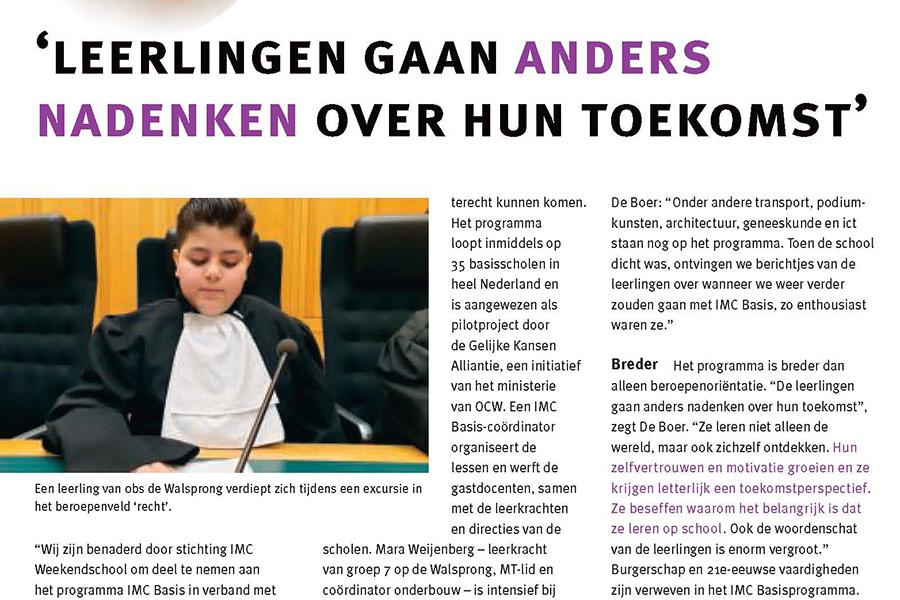 Walsprong in maandblad Kader Primair
